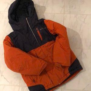 Columbia kids orange winter jacket. Play condition